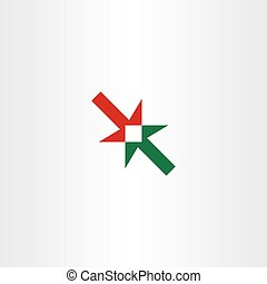 arrow center icon point vector symbol element - arrow center...