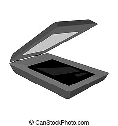 Scanner icon in cartoon style isolated on white background....