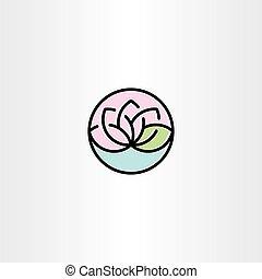 lotus vector clip art symbol