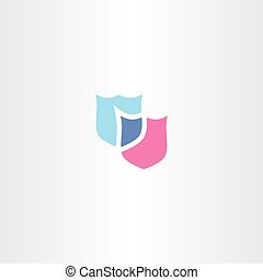shield logo vector clip art icon