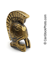 Bronze greek helmet - Souvenir ancient bronze greek helmet...