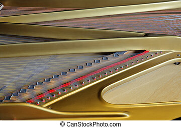 Inside the concert grand piano