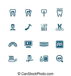 Dental icons | MICRO series - Dental care tools and...