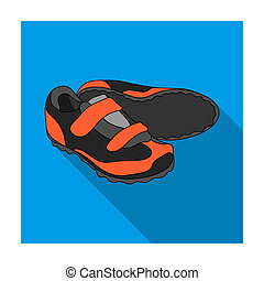 Shoes for cyclists. Special cycling for cycling.Cyclist...