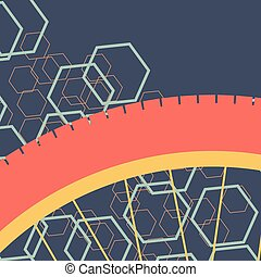 Bicycle wheel background vector abstract poster or card