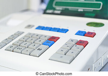 Close up of electronic cash register in a shop