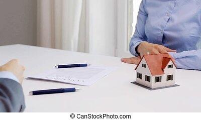 chiavi, consoci, contratto, affari, casa