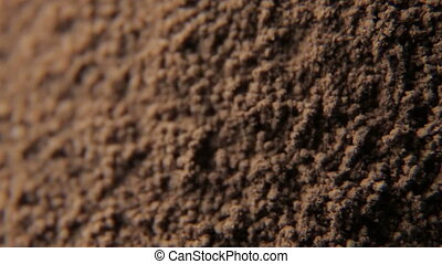 Close up shot of cocoa powder