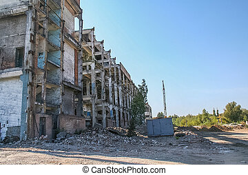 Demolition of the old chemical plant and the construction of...
