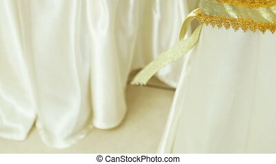 Decorative ribbon on the chair cover - Lace decorative...