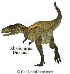 Abelisaurus Dinosaur Tail with Font - Abelisaurus was a...