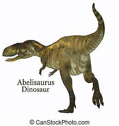 Abelisaurus Dinosaur Tail with Font - Abelisaurus was a...