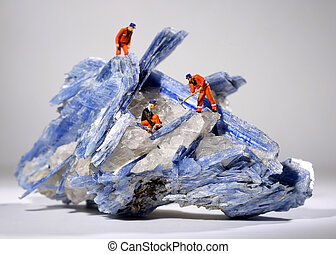 Miniature Workers in the Mining of Minerals Field -...