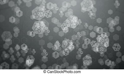 Gray Abstract Hexagon Pattern. - Abstract science hexagons...