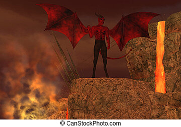 Devil Creature in Hell - The Devil is considered to be a...
