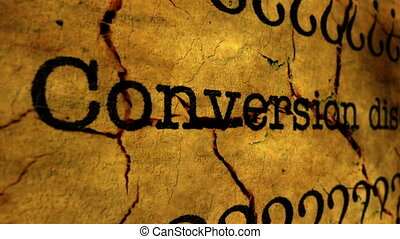 Conversion disorder grunge concept