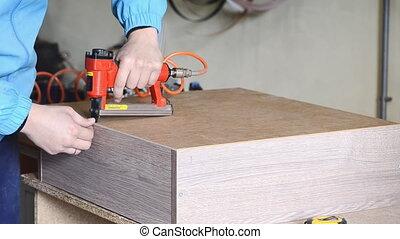 Red sroiteny pneumatic stapler - Stapler gun protective...