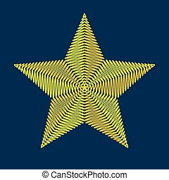 Embroidery star. Vector illustration