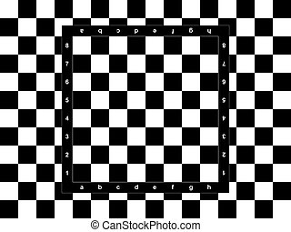 Chessboard on the checkered background
