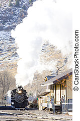 railroad in Colorado, USA - Durango and Silverton Narrow...
