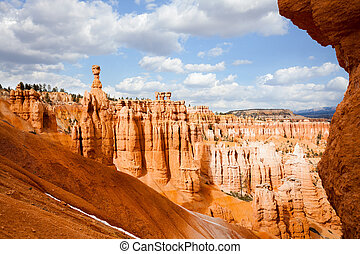 Sandstone rock formations at Bryce Canyon in Utah