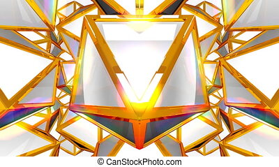 Fantasy 3D geometric shapes - VJ fantasy kaleidoscopic...