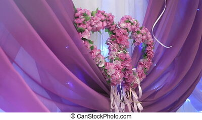 Decoration wedding table in purple color - Decoration head...