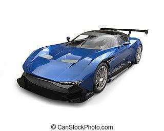 Steel blue modern sports race car