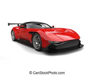 Cardinal red modern sportcar - studio shot