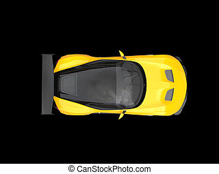 Stock Illustration Of Yellow Vintage Concept Race Car Top View