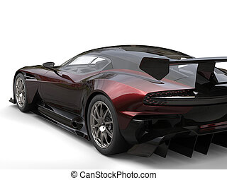 Awesome black modern sportscar with red highlights