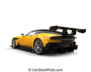 Black and yellow modern sports race car