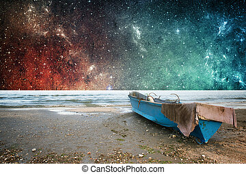 Earth and space fantasy wallpaper - Earth and space stars...