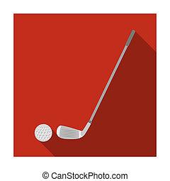 Golf icon in flat style isolated on white background....