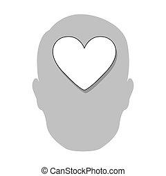 person heart brain icon