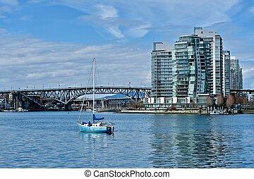 Granville bridge over Falls Creek in downtown Vancouver. -...