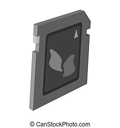 SD card icon in monochrome style isolated on white...