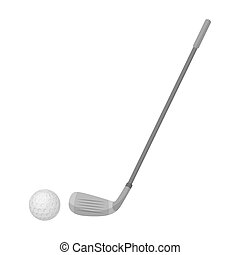 Golf icon in monochrome style isolated on white background....