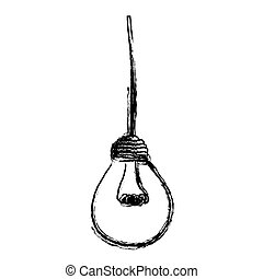light bulb hanging icon, vector illustration design