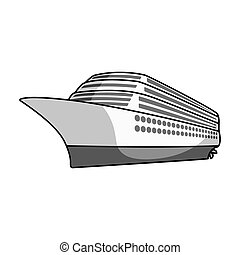 A huge cruise liner.Vehicle for travelling over long...