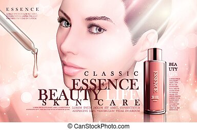 skincare essence ad - skincare essence contained in a...
