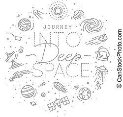 Flat deep space monogram - Space flat monogram lettering...