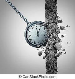 Time Limit - Time limit deadline schedule concept as a clock...