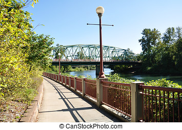 Ferry Street Bridge - A view of the Ferry Street Bridge from...