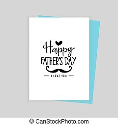 happy fathers day - abstract happy fathers day card on a...