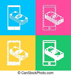Payment, refill your mobile smart phone,. Four styles of...