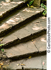 Brown stone stair