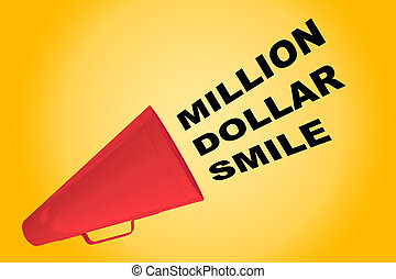 Million Dollar Smile concept - 3D illustration of 'MILLION...