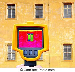 Building facade heat loss - An infrared thermal imager...