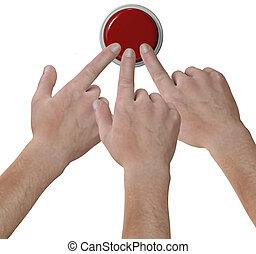 ボタン, 指, 手, 押し, クリック, アイコン